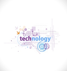 Technology futuristic digital template for tech vector image