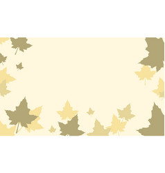 Thanksgiving with maple background style vector