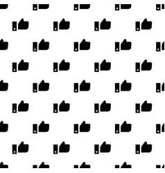 thumb up pattern seamless vector image
