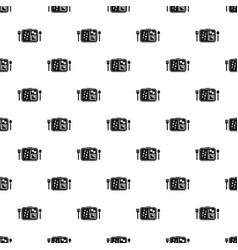 Time to lunch pattern seamless vector
