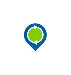 transfer point logo icon design vector image