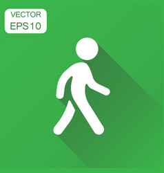 walking man icon business concept people walk vector image