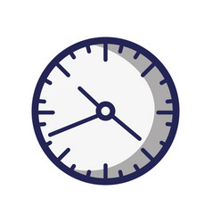 wall round clock time object vector image