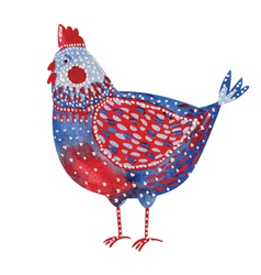 Watercolor chicken vector