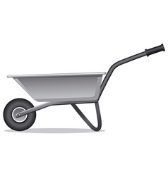 Wheelbarrow for gardening vector