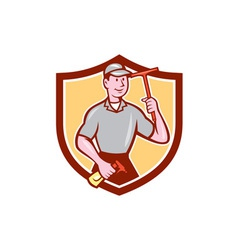 Window Washer Cleaner Squeegee Shield Cartoon vector image