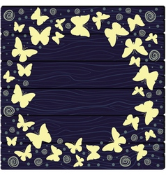 with colorful butterflies vector image