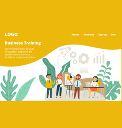 workshop at office people conference business vector image