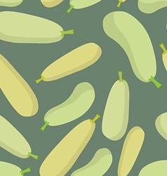 Zucchini seamless pattern background ripe vector image
