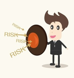 businessman with shield Business concept vector image