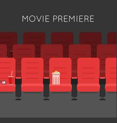 cinema hall red cinema chairs vector image