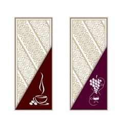 Coffee and wine vector image vector image