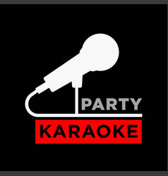karaoke party minimalistic promotional poster with vector image vector image