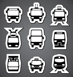 public transport label vector image