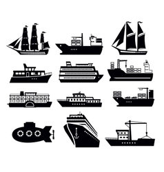 boat and ship vector image