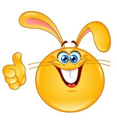 bunny emoticon vector image vector image