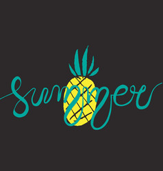 hand drawn lettering - summer vector image vector image