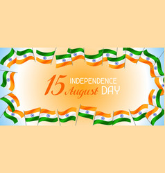 india independence day banner celebration 15 th vector image