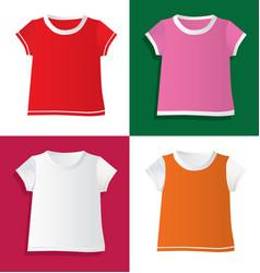 t-shirts and waistcoat vector image vector image