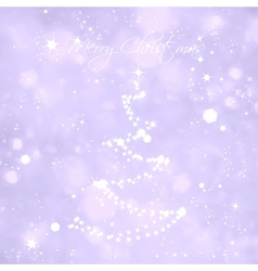 Christmas card Of Light And Snow Flakes vector image