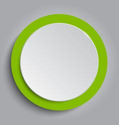 Circle banner greenery around card vector