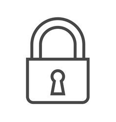 padlock thin line icon vector image vector image
