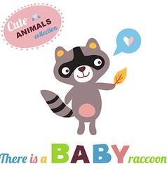 RaccoonBaby vector image vector image