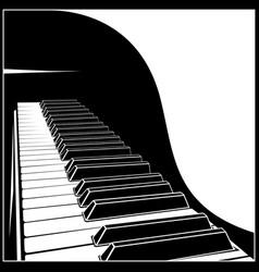 stylized piano keyboard vector image vector image