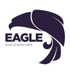 eagle bird or fantasy logo template for security vector image vector image