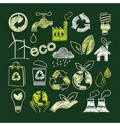 Eco doodle vector