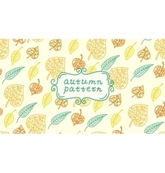 Leaves autumn pattern In retro style It contains vector image