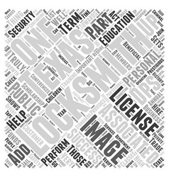 Locksmiths in Texas Word Cloud Concept vector image