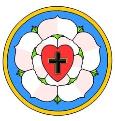 Lutheran Rose Emblem vector image