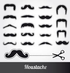Set of moustache vector image