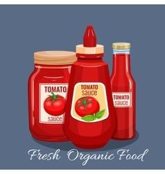 Tomato sauce bottle vector