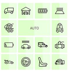 14 auto icons vector