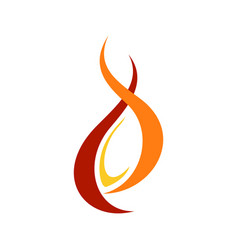 abstract fire flaming mage symbol design vector image