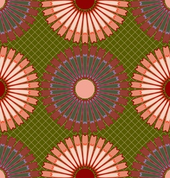 Abstract flowers pattern vector