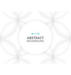 abstract of white round space pattern background vector image