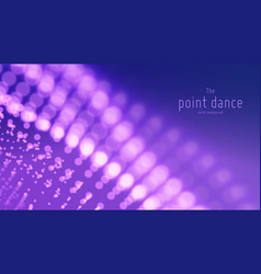 abstract particle wave points array with vector image