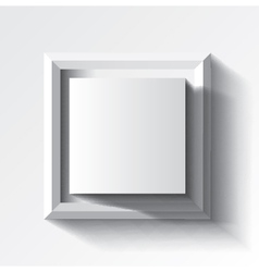 Abstract white geometrical background with cube vector