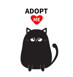 Adopt me dont buy black sitting sad cat vector