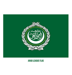 Arab league flag on white background arab vector