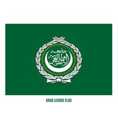 Arab league flag on white background vector