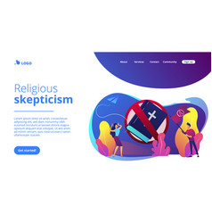 Atheistic world view concept landing page vector