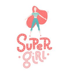 baprint super girl hand drawn graphic for vector image