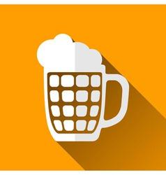 Beer Mug Icon Long Shadows vector image