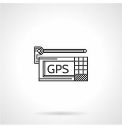 Black line icon for GPS navigator vector image