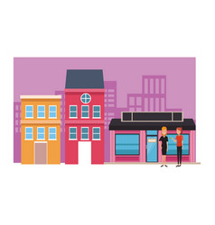 Boutique business cartoons vector