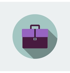 Briefcase icon Flat design vector image